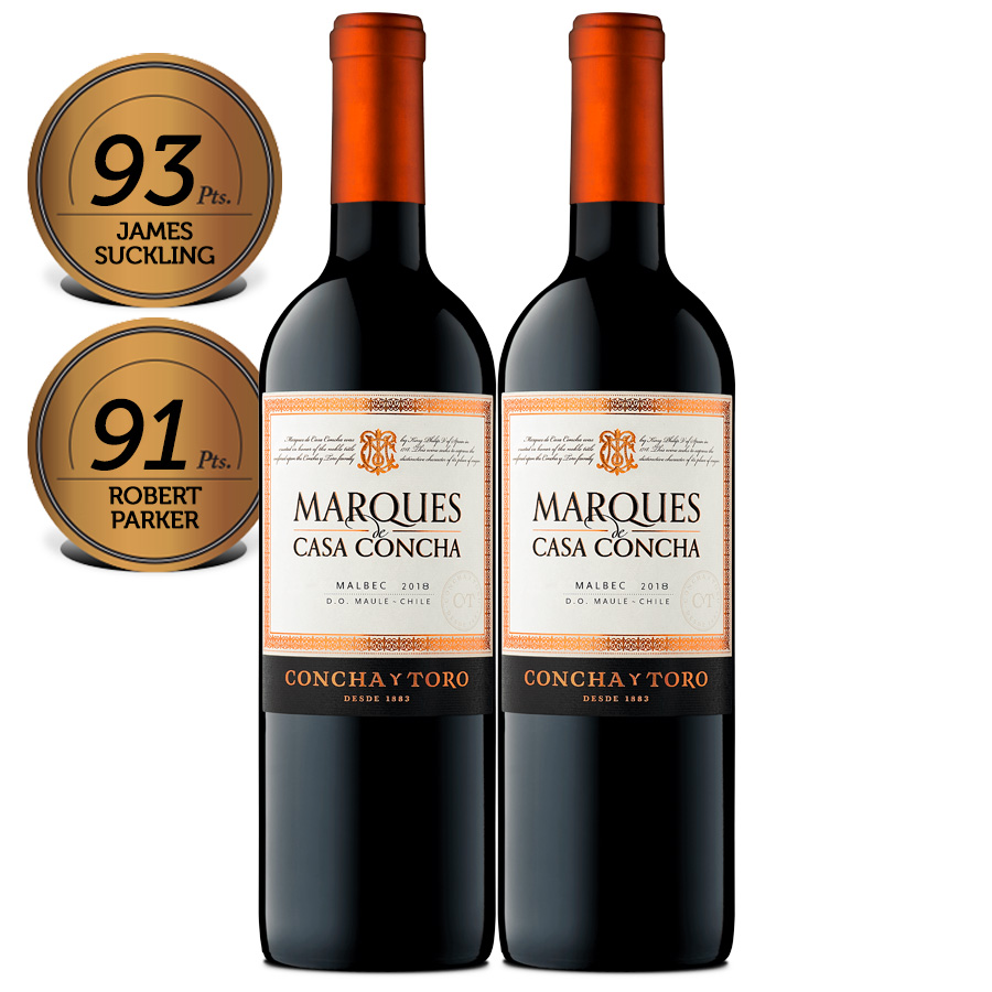 Box Marques de Casa Concha Malbec 2gfs 750ml