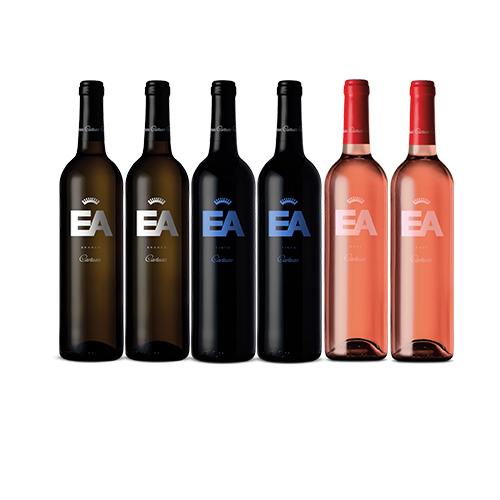 Box 6 garrafas  EA Cartuxa: Branco, Tinto, Rose 750ml