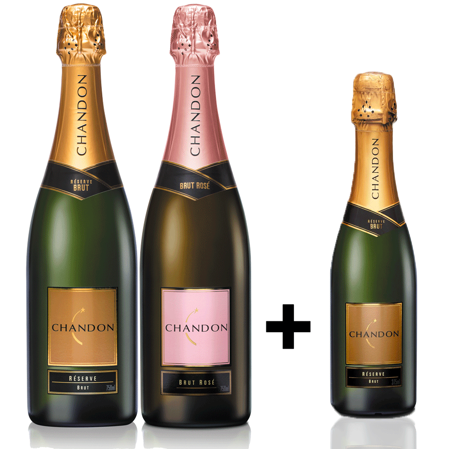 Box Chandon 2gfs + Chandon 375ml Brinde