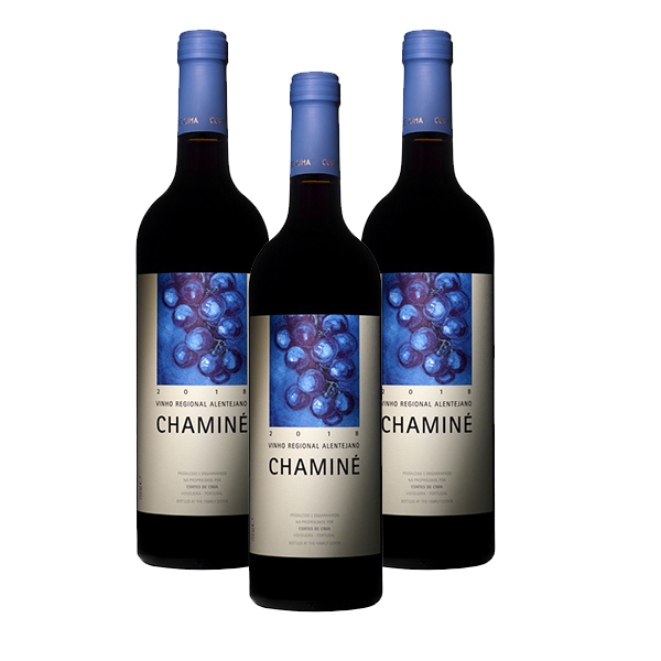 Box 3 garrafas Chaminé Tinto 750ml