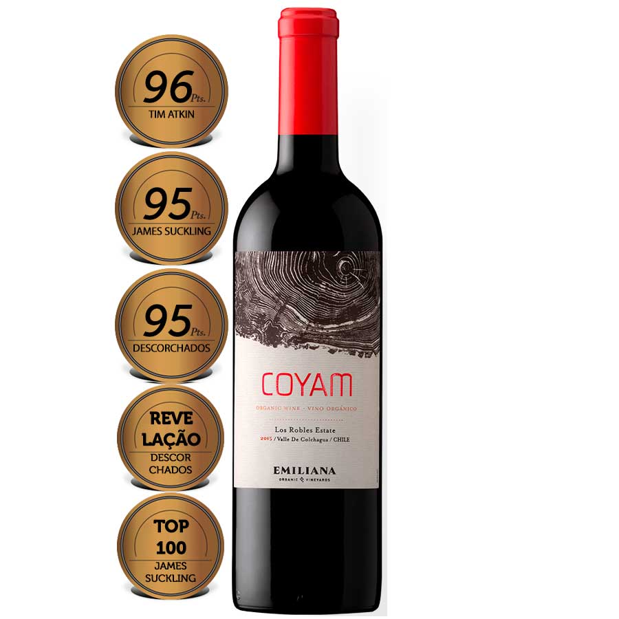 COYAM Viña Emiliana 2018 750ml - Vinho Chileno