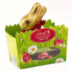 Lindt Gold Bunny Lapin Or 150ml (Coelho com chocolate cremoso)