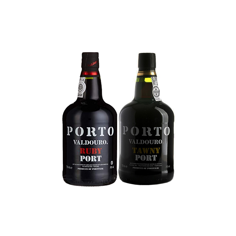 Box Porto Valdouro 2 gfs Ruby e Tawny 750ml