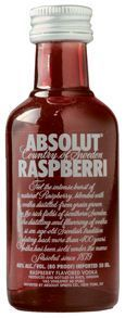 Miniatura Vodka Absolut Raspberri 50 ml