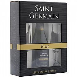 Kit Espumante Saint Germain Brut 750 ml + 2 taças