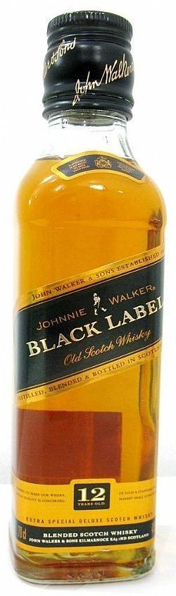 Miniatura Johnnie Walker Black Label 200 ml
