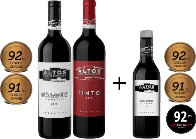 Box Altos Las Hormigas 2gfs 750ml + 1 Malbec Clássico 375ml de BRINDE