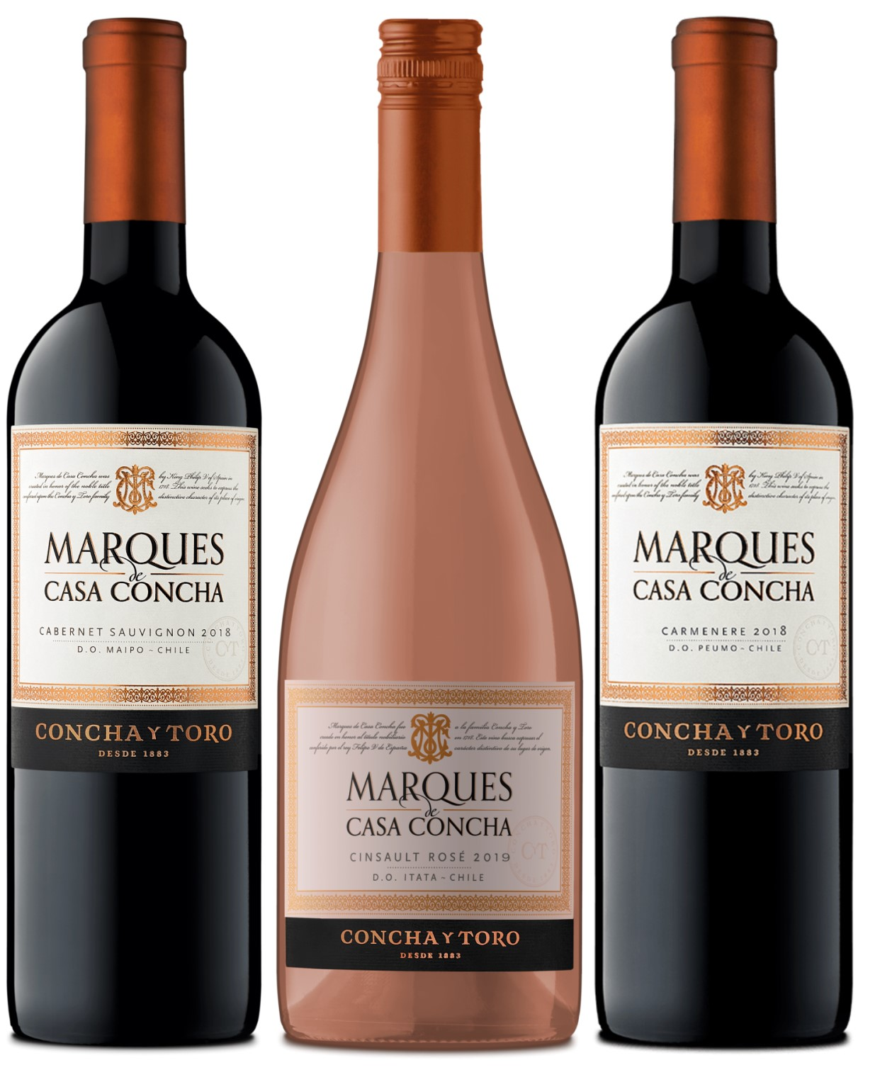 Box Marques de Casa Concha 3gfs 750ml