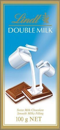 Chocolate Lindt Double Milk 100 gr