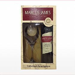 Kit Vinho Marcus James Cabernet Sauvignon 750ml e 1 Taça