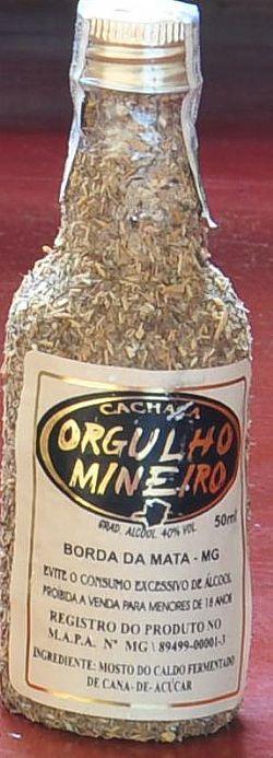 Cachaça Orgulho Mineiro 50ml