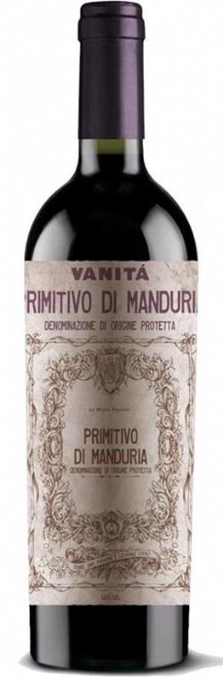 Vinho Italiano Vanitá Primitivo Di Manduria DOC 750ml