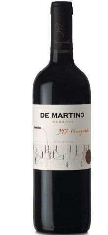 Vinho Chileno Carmenere 347 Vineyards Res. De Martino